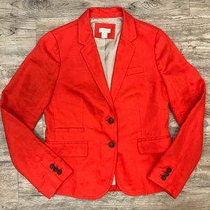 J. Crew 100% Linen Blazer Jacket Coat
